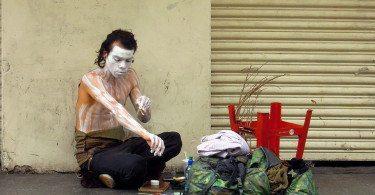 Ciudad de Guatemala +uliczny artysta