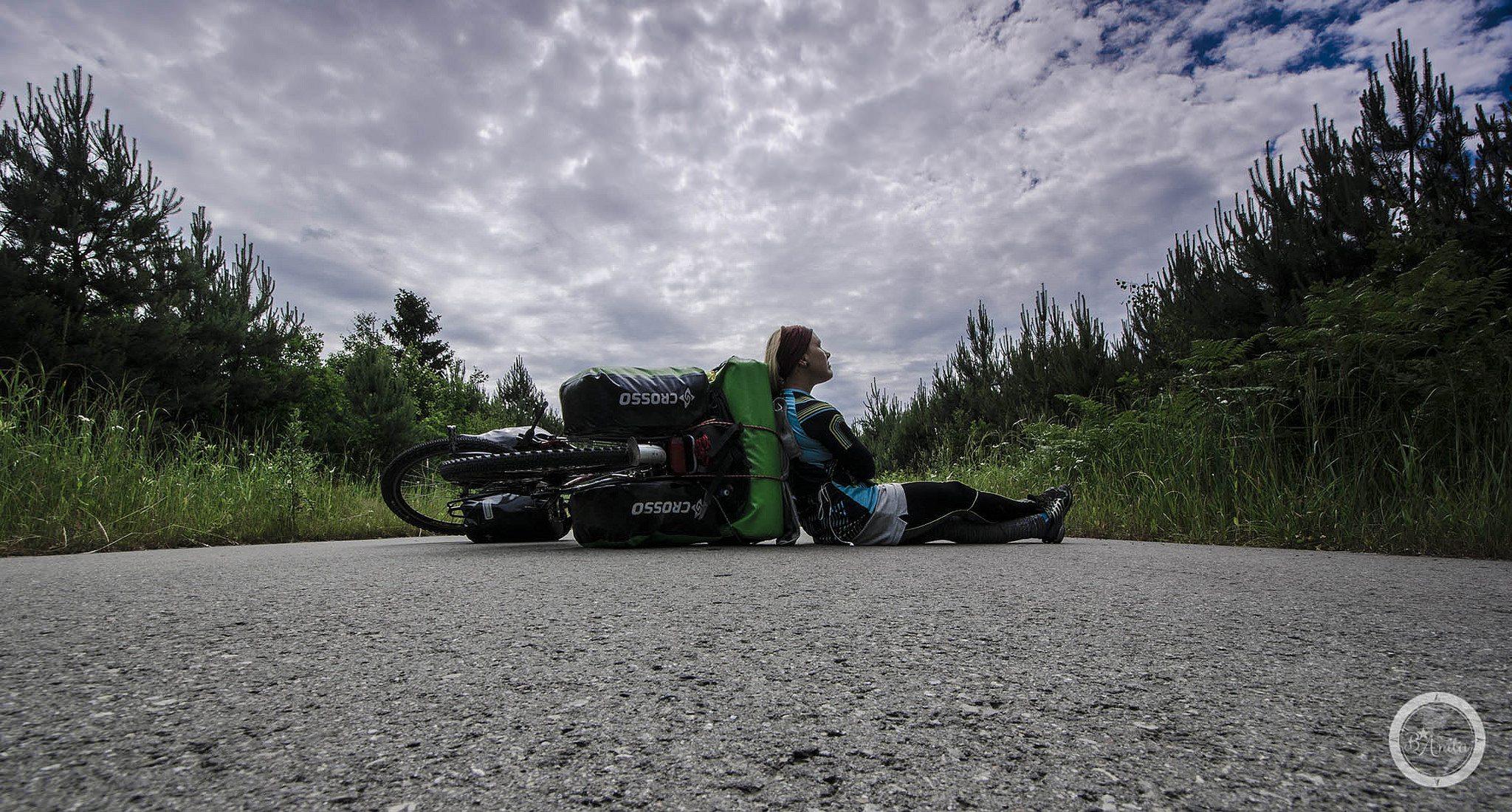 Odpoczynek na rowerze. Anita Demianowicz