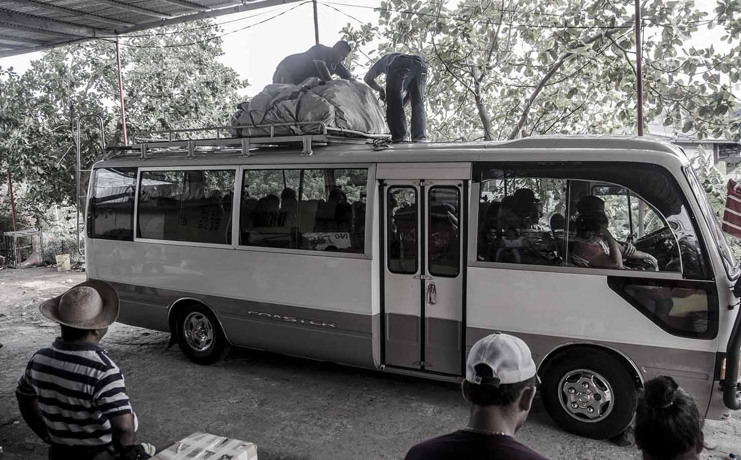 Panam, David Autobus, którymprzyjechałam