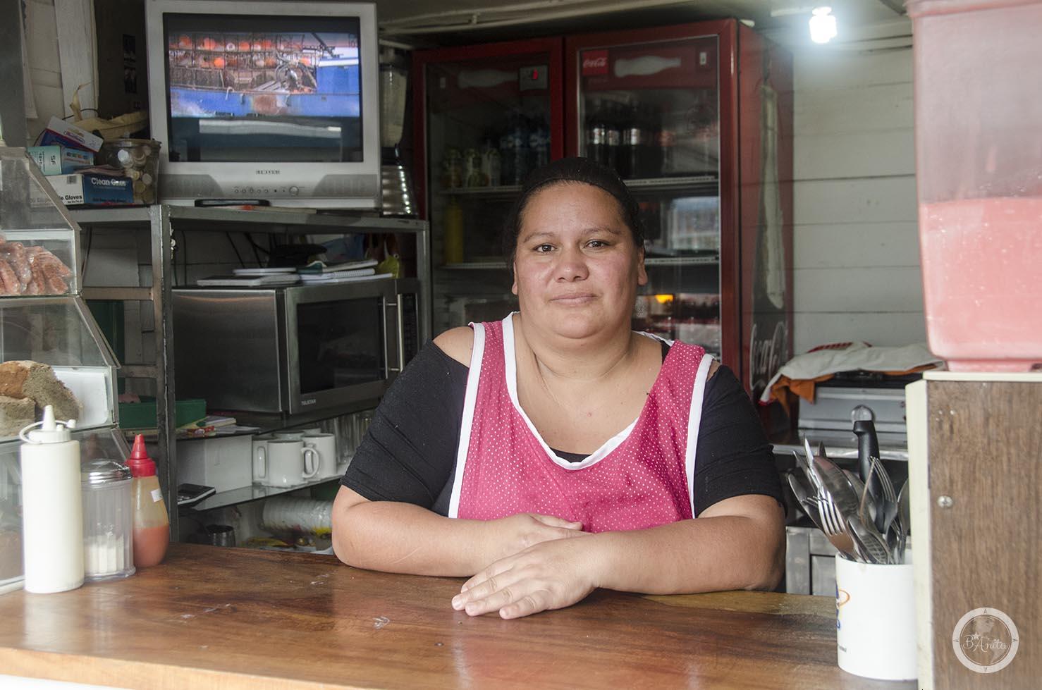 Sandra, któraprzyrzadza pyszne enyucado