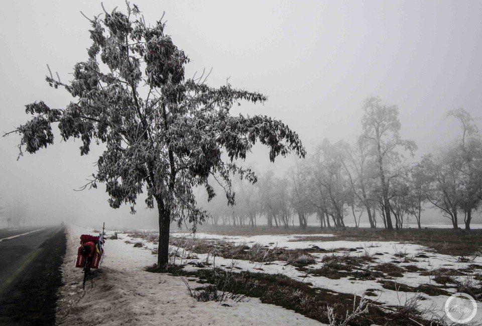 plusy iminusy rowerowania zimą
