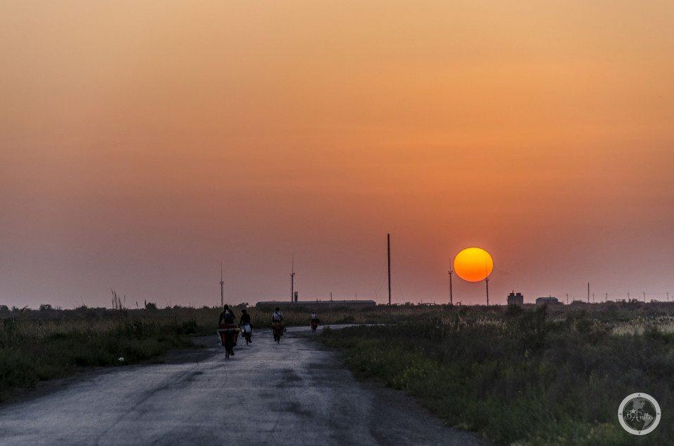 Zachód w Turkmenistanie