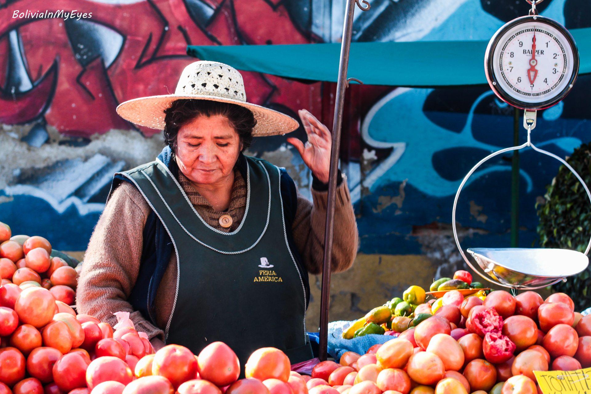Boliwia - kobieta pracująca