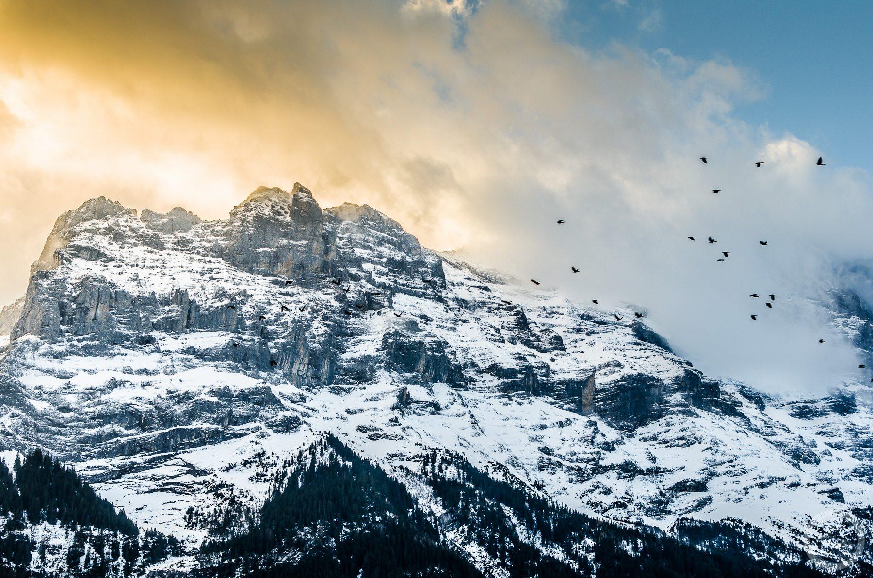 Skalisty szczyt. Grindelwald, Szwajcaria