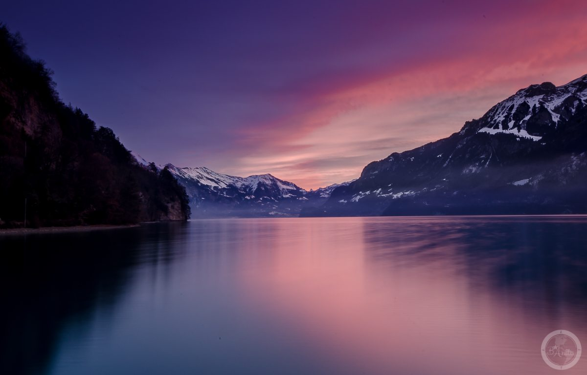Interlaken o wschodzie, Szwajcaria