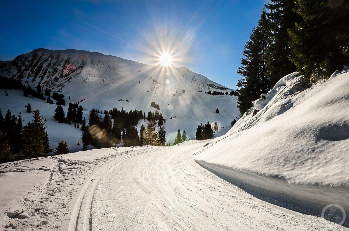 Śnieżna trasa. Lombachalp, Szwajcaria.