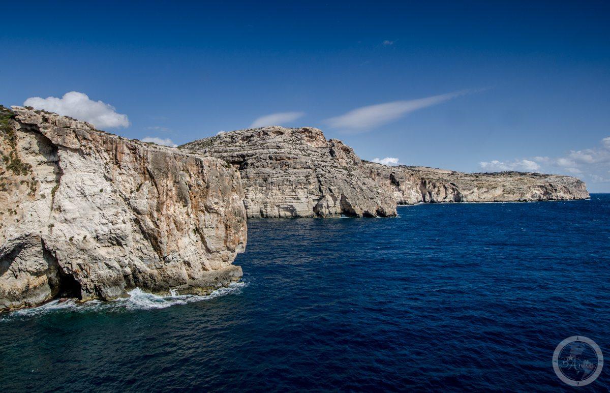 Klify przy Blue Grotto, Malta