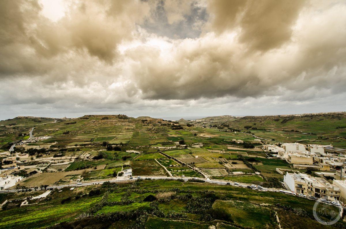 Widok zcytadeli, Gozo