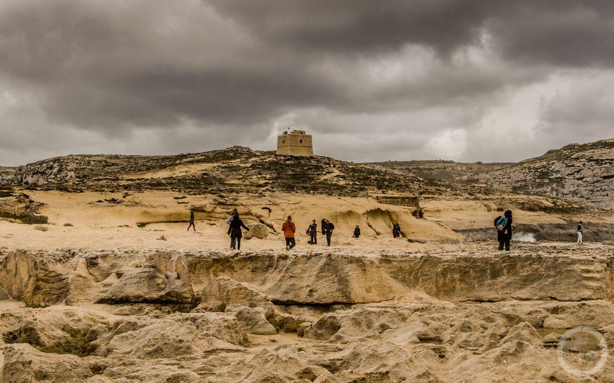 Gdy staniesz plecami doAzure Window, Gozo