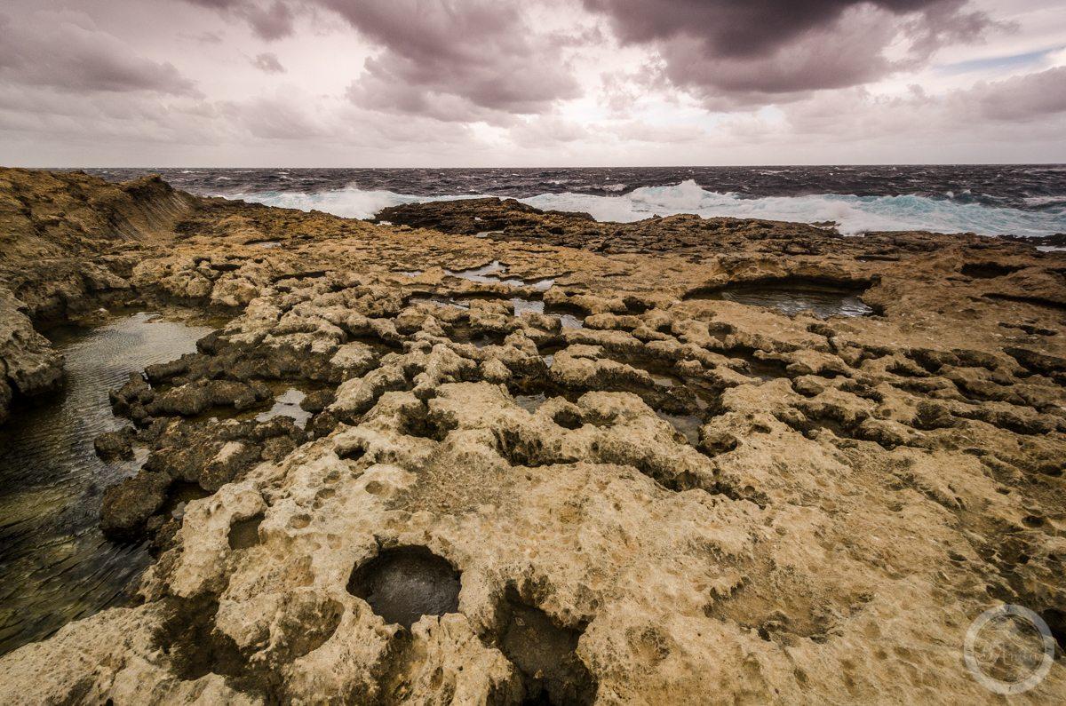 Wzburzone może wpobliżu Azure Window, Gozo
