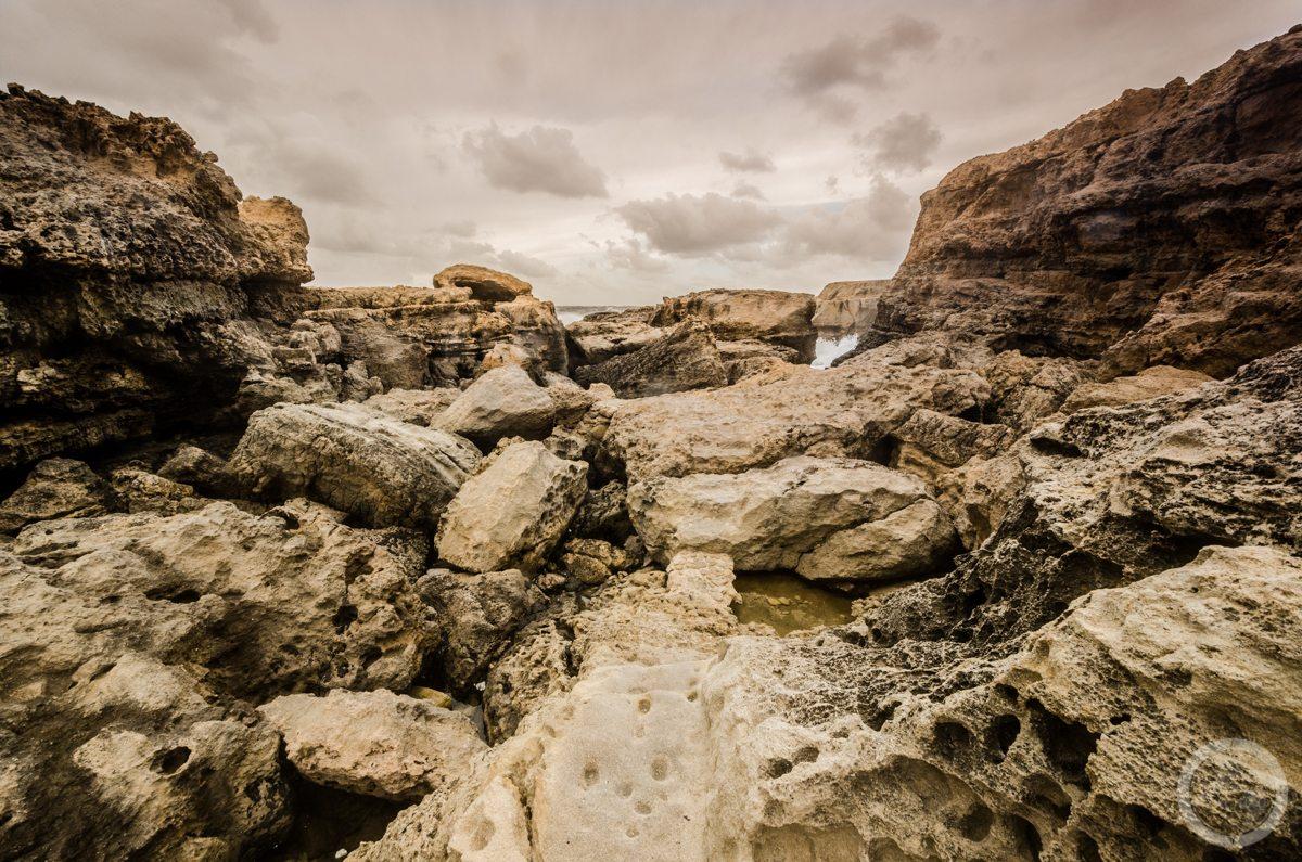 Skaliste wybrzeże Gozo