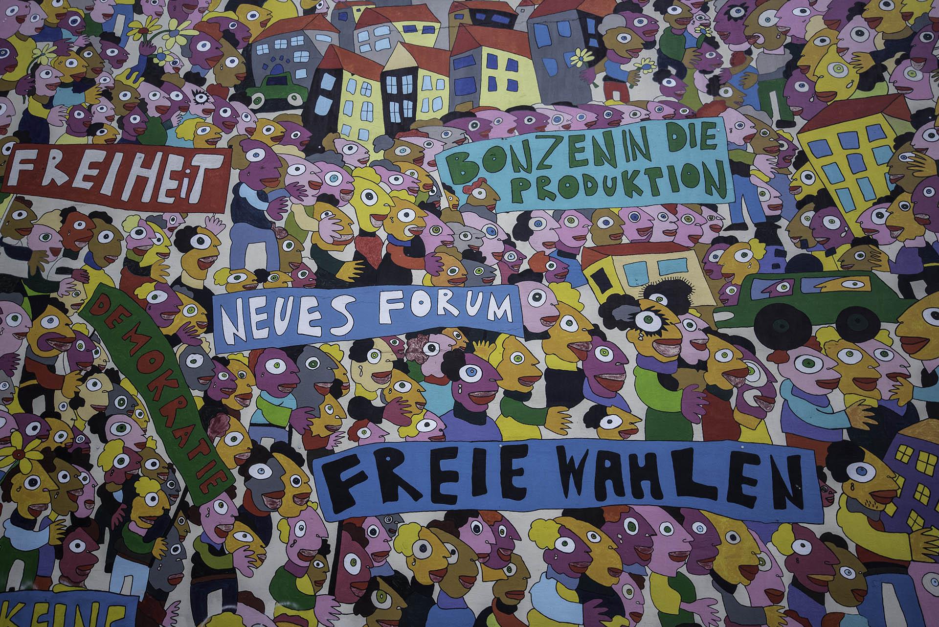 Mural wolności wLipsku