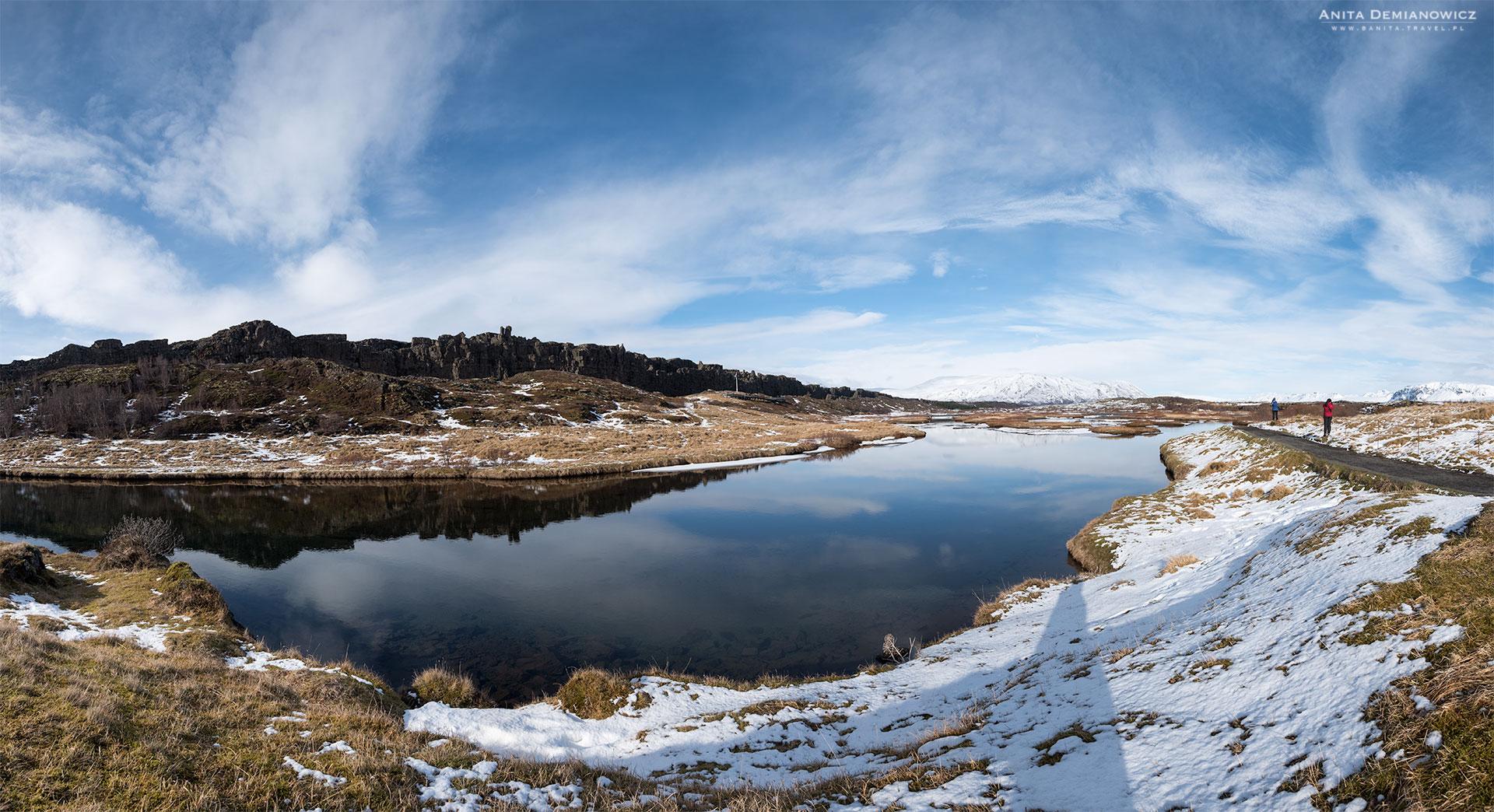 Park Thingvellir zimą, Islandia, Anita Demianowicz
