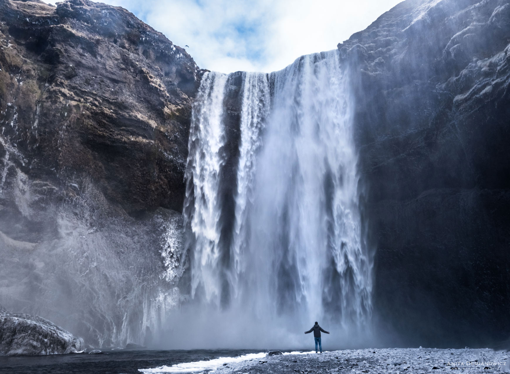 Wodospad Skogafoss, Islandia, Anita Demianowicz
