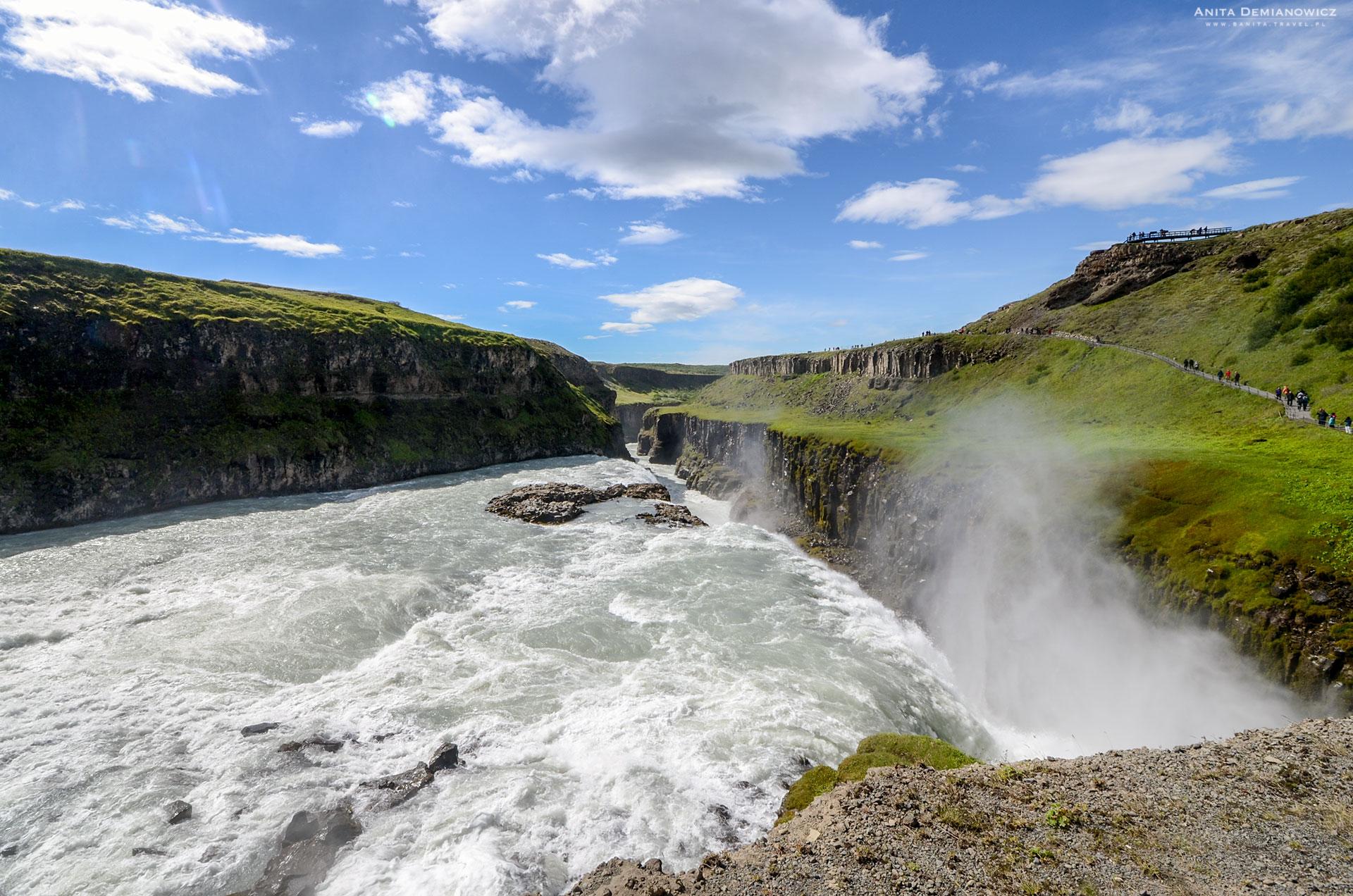 Wodospad Gulfoss, Islandia, Anita Demianowicz