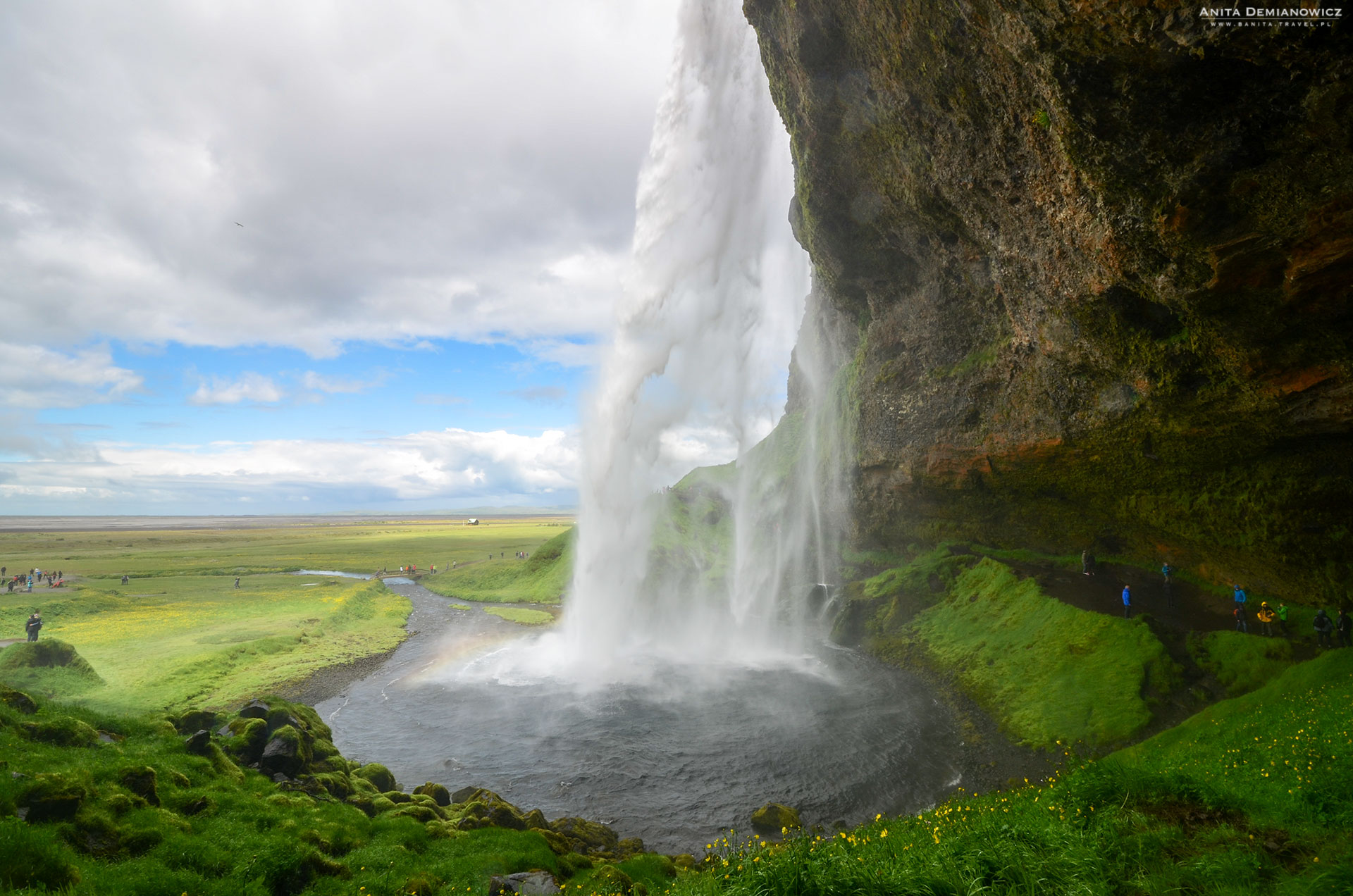Wodospad Seljalansfoss, Islandia, Anita Demianowicz