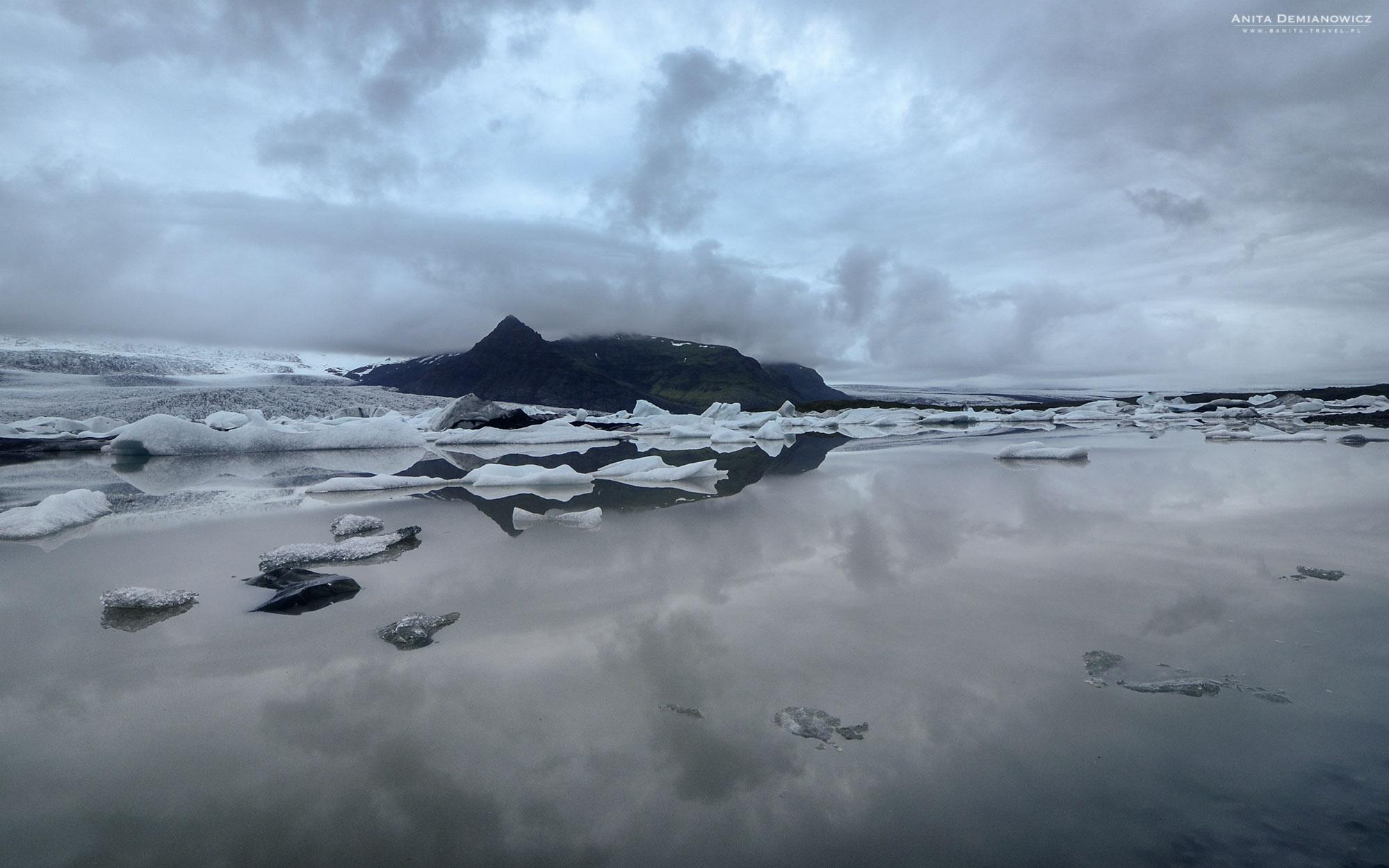 Zatoka Fjallsárlón, Islandia,