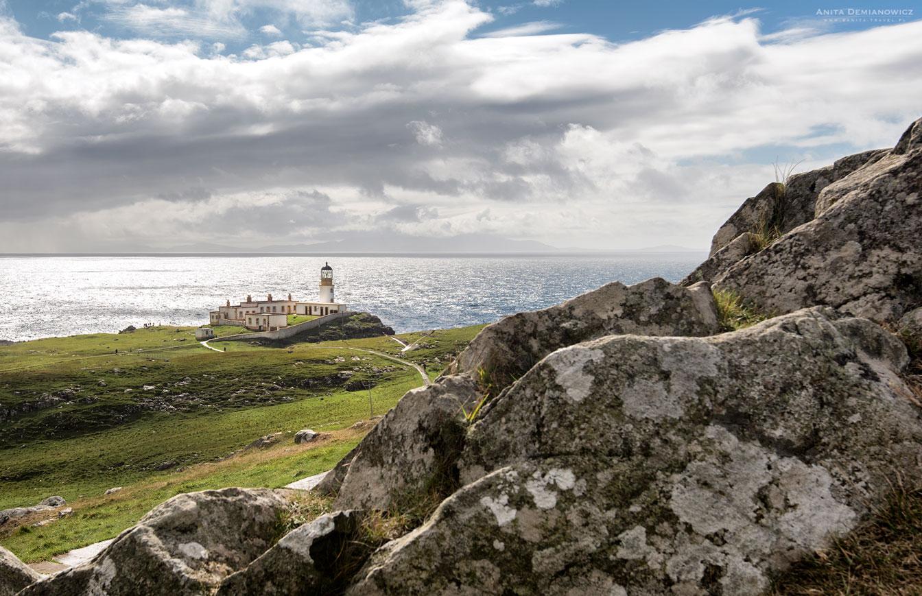 Nest Point Lighthouse, Szkocja, Isle of Skye