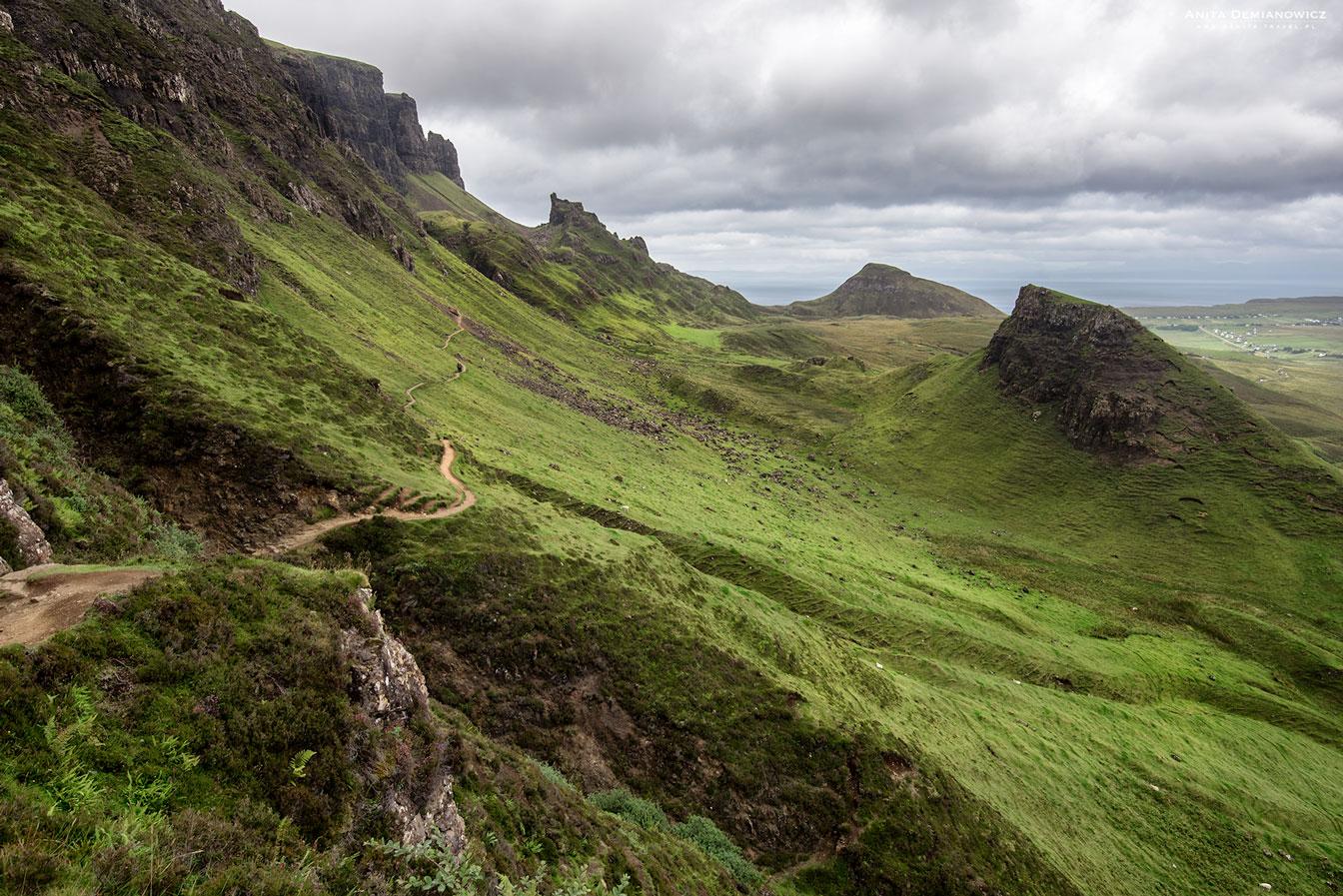 Quiraing, Isle of Skye, Szkocja, Anita Demianowicz