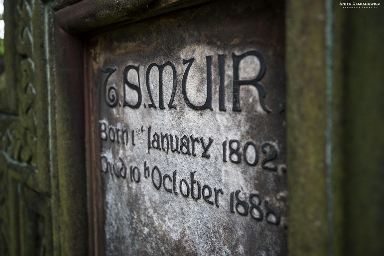 Cmentarz kościoła Franciszkanów, Edynburg, Szkocja