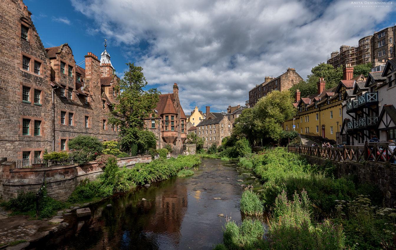 Dean Village, Edynburg, Szkocja, Anita Demianowicz