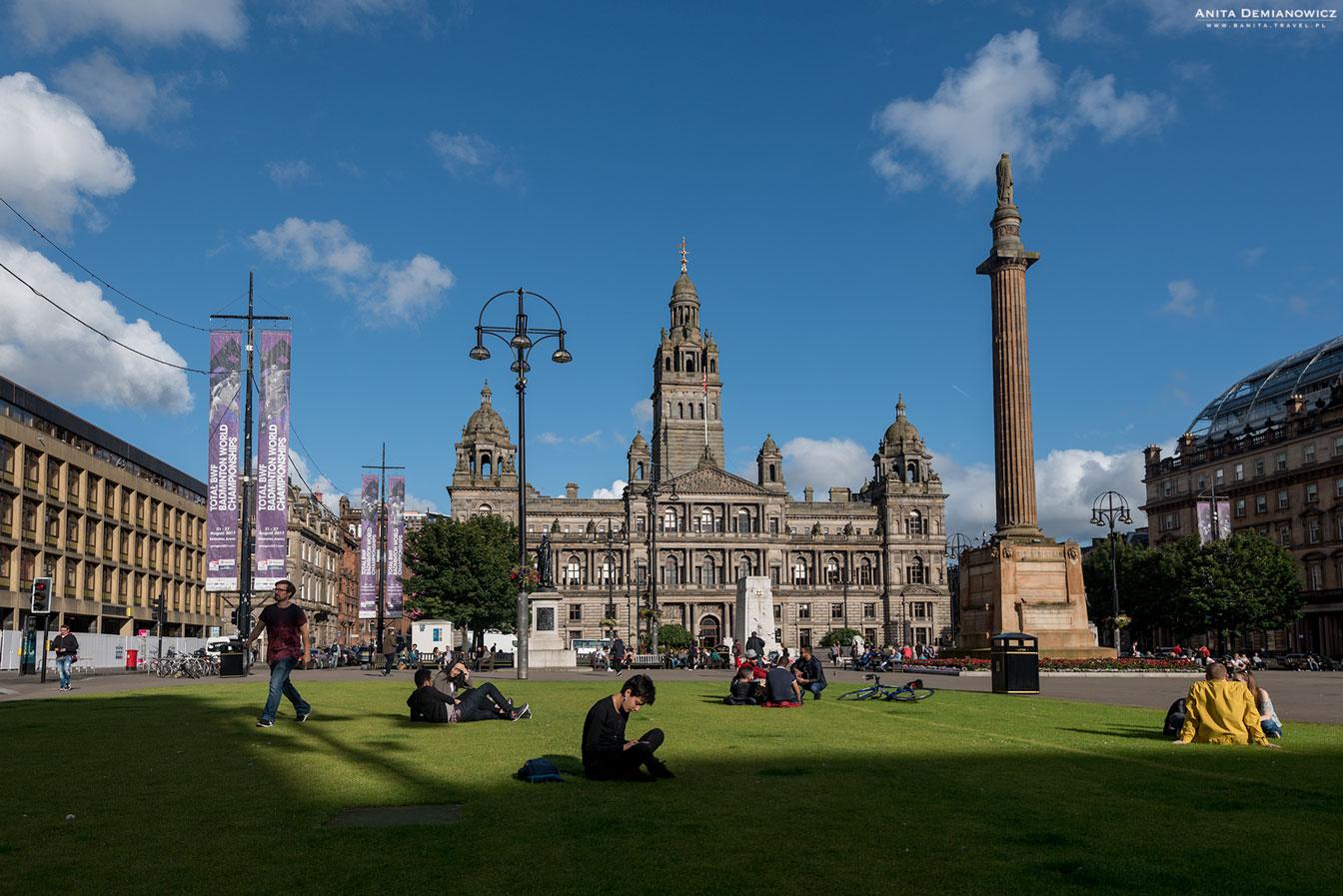George Square, Glasgow, Szkocja