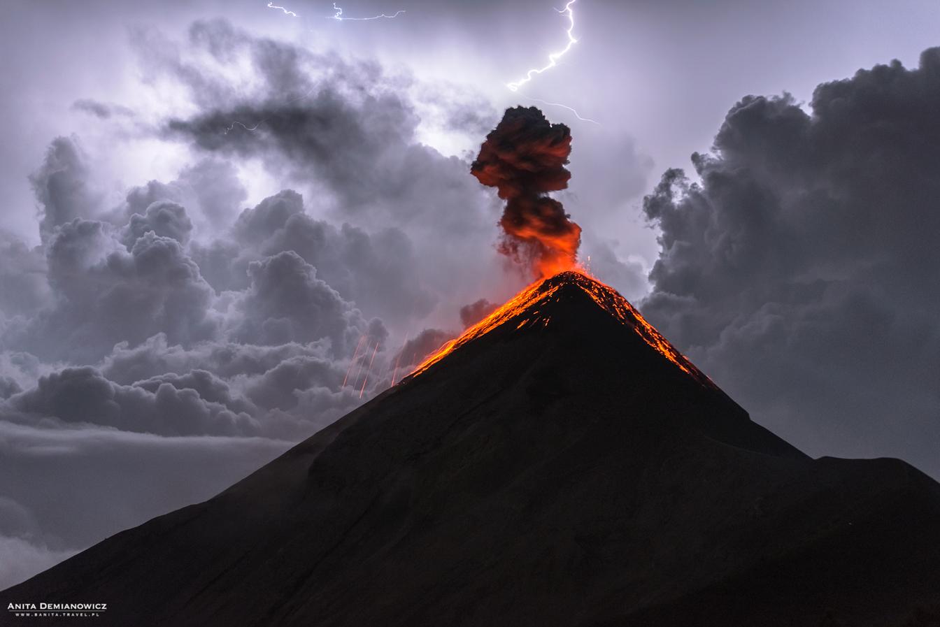 Wulkan Fuego, Gwatemala