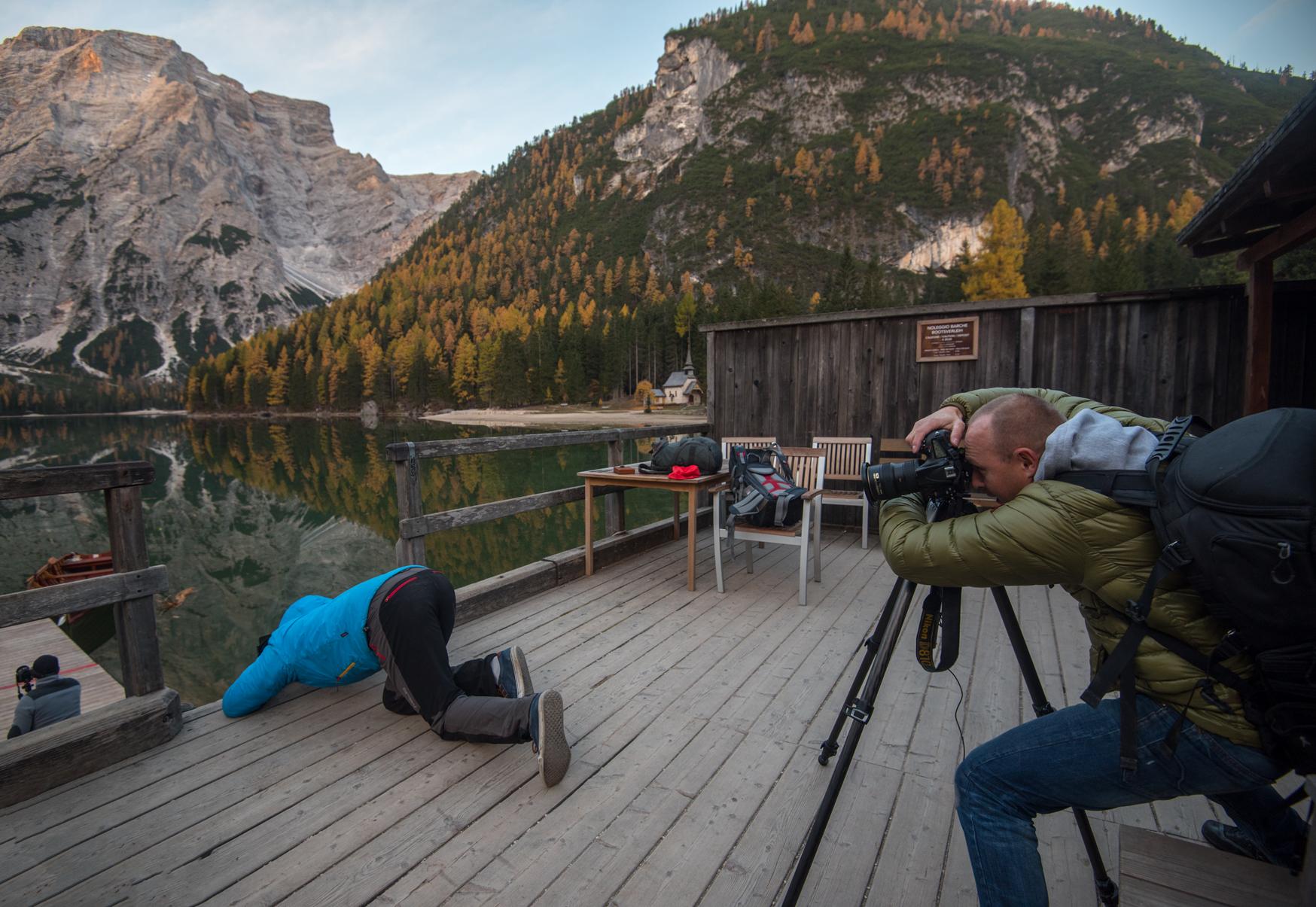 Fotowyprawa wDolomity ifotografowanie (wamoku) Lago di Braies