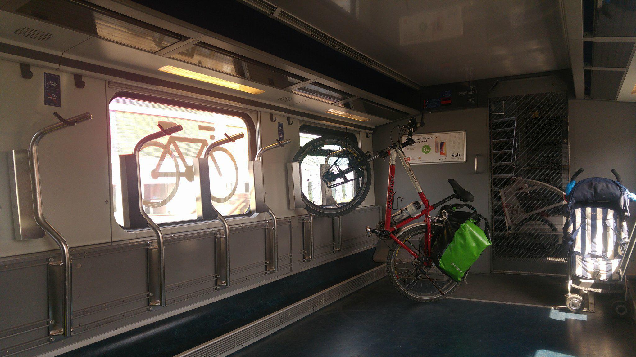 Przewóz roweru wszwajcarskim pociągu