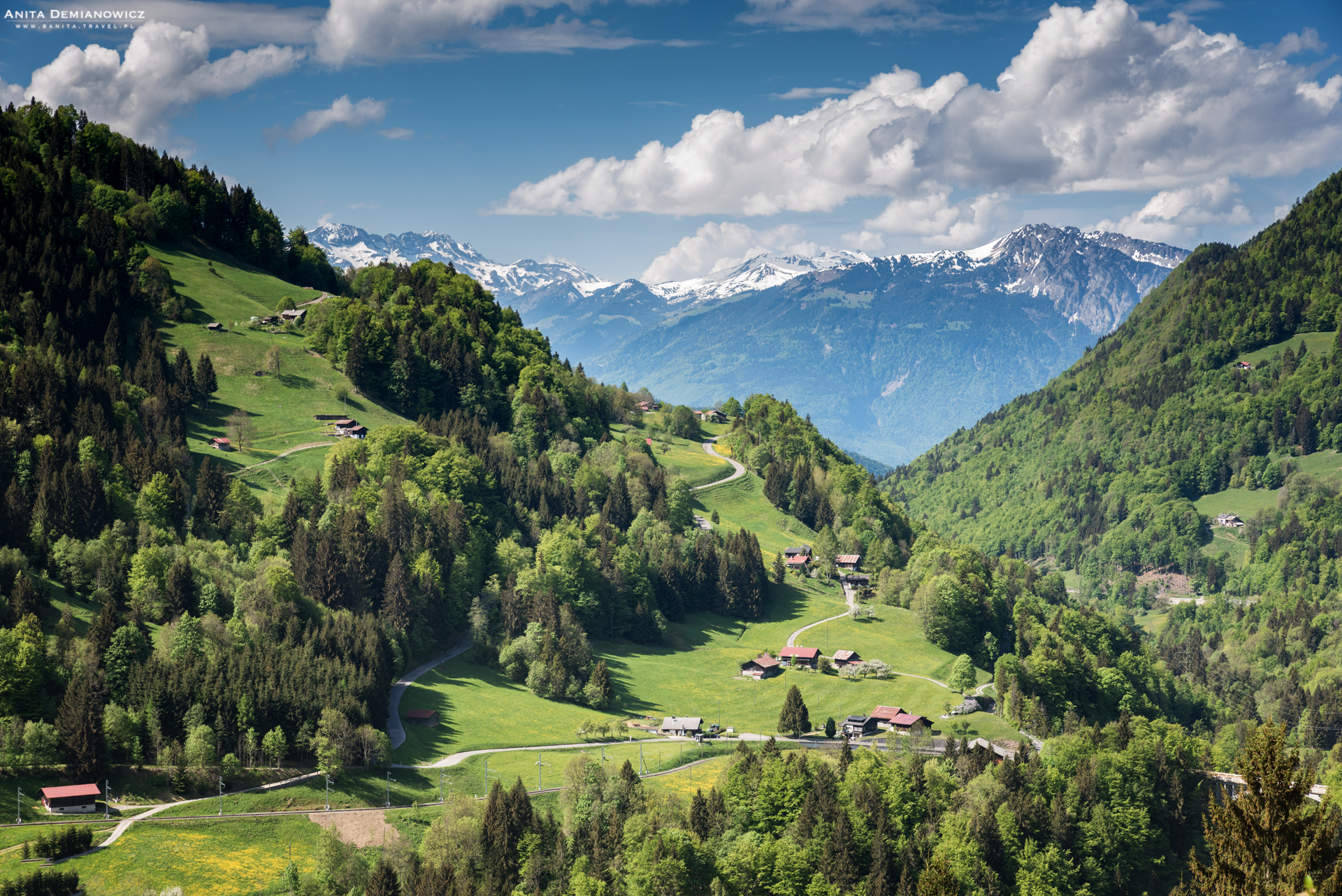 Trasa zAigle doMontbovn, Szwajcaria