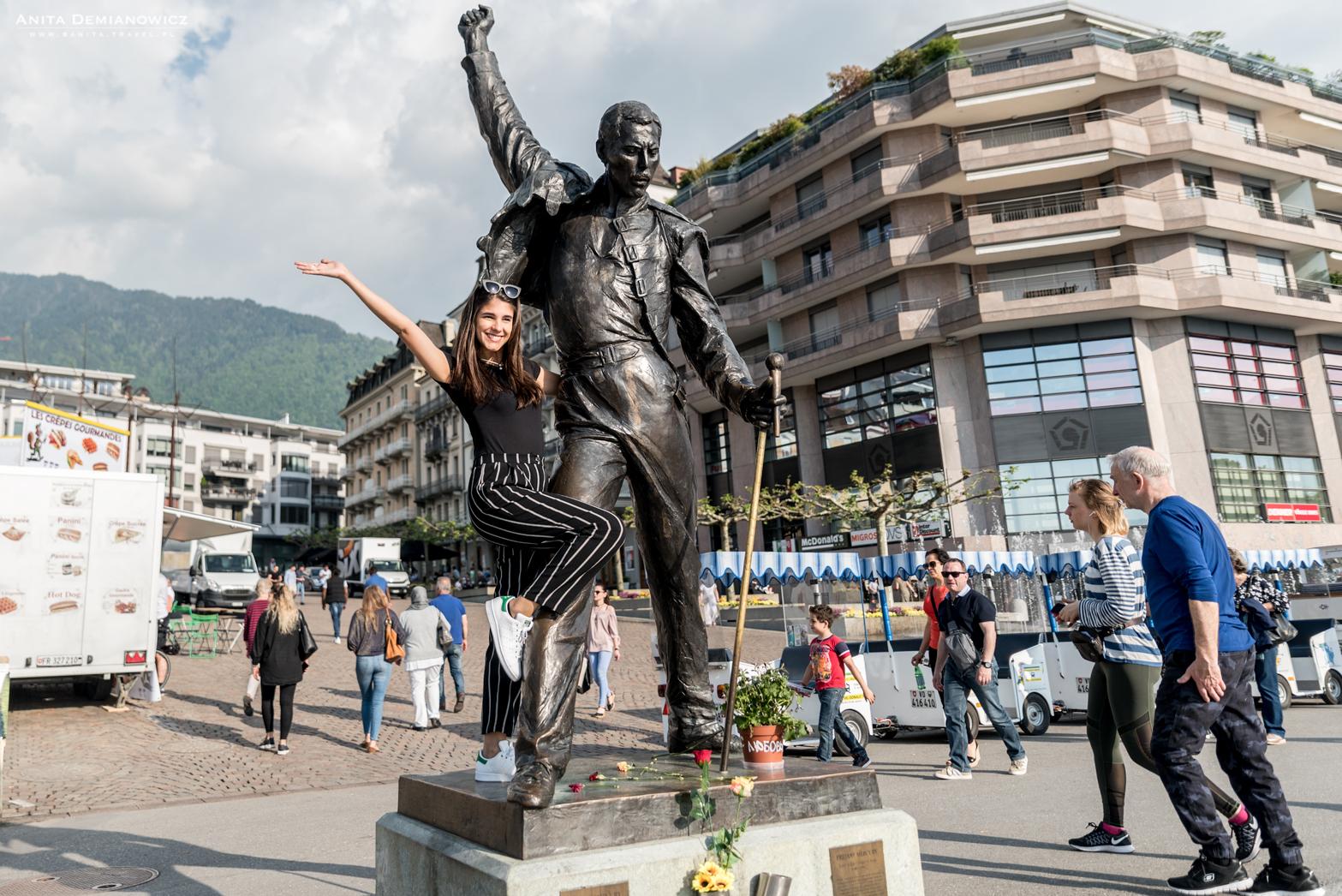 Freddy-pomnik,-Montreux