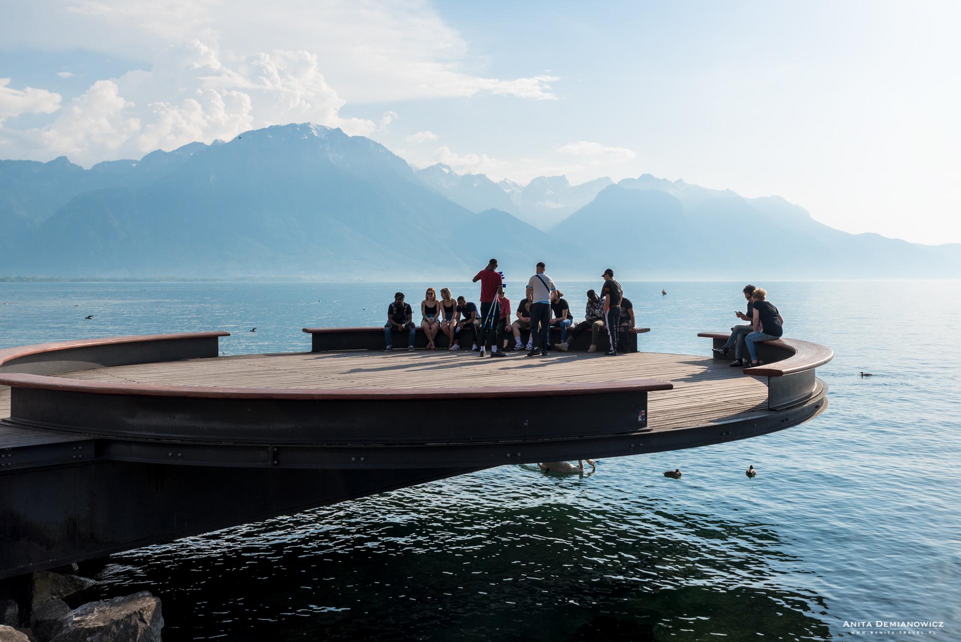 Montreux, jezioro genewskie, Szwajcaria