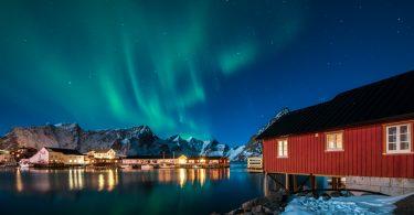 Zorza-polarna,-Norwegia